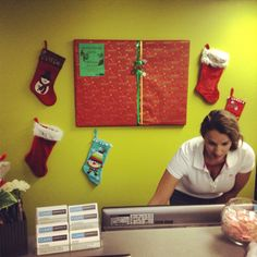 Stockings are hung on the wall with care in hopes that our patients will like the Christmas flare. #Xmas #stockings #HappyHolidays #Redmond