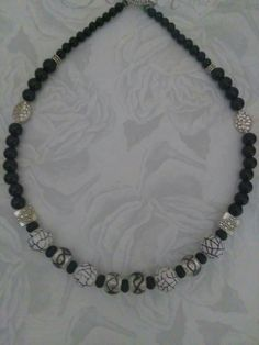 Excited to share the latest addition to my #etsy shop: Black white necklace/black onyx and glass bead necklace/women black onyx jewelry/black dress up jewelry/casual wear jewelry/gift for her #jewelry #necklace #anniversary #toggle #porcelainceramic #girls #onyx #people #round #gift #mothersday http://etsy.me/2FiUaqT