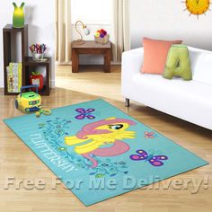 KIDS EXPRESS MY LITTLE PONY FUN FLOOR RUG (XS) 100x150cm **FREE DELIVERY