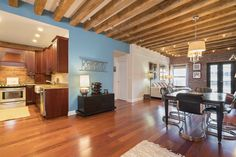 Amazing opportunity to live at prestigious Lewis Wharf on Boston's Waterfront.  This two bedroom, two full bath home has harbor views and a large private balcony.  Unit #419 has been totally renovated with cherry hardwood floors throughout, large spacious rooms, exposed brick walls and original beamed ceilings with sound proofing.  Generous cherry kitchen with granite and stainless steel appliances.