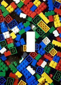 Lego Blocks Light Switch Plate Cover Kids Room Home Decor