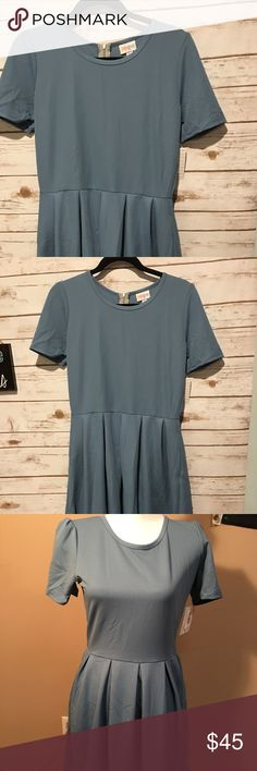 Brand new authentic LulaRoe Amelia in Large The color is grey blue LuLaRoe Dresses