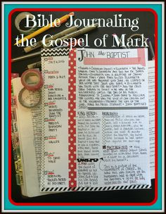 Day 18 Bible Journaling in Mark - I LOVE starting the day in my Farm Girl Journa. Tag 18 Bible Journaling in Mark - Ich LIEBE es, den Tag . Bible Study Notebook, Bible Study Journal, Scripture Journal, Gospel Bible, Bible Prayers, Bible Art, Prayers That Avail Much, Book Of Matthew, Girls Bible
