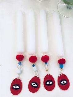 Εποχιακά - Πάσχα - λαμπάδες Greek Easter, Bazaars, Candels, Easter Crafts, Happy Easter, Decor Crafts, Easter Eggs, Wax, Handmade