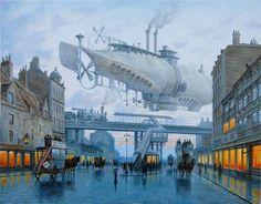 By Vadim Voitekhovitch.   http://www.visualnews.com/2012/12/26/airship-ahoy-superb-steampunk-paintings/