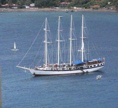 SV Polynesia, Windjammer Barefoot Cruises - a great cruise to Nevis, St Kitts, St Bart's, Saba, St Maarten and Antigua