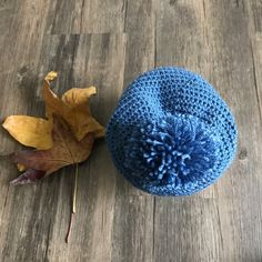 Pom-Pom Crochet Beanie Hat for Kids Crochet Beanie Hat, Beanie Hats, Kids Hats, My Etsy Shop, Unique Jewelry, Handmade Gifts, Vintage, Kid Craft Gifts, Hats For Kids
