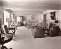 Errol Flynn's living room at Mulholland Farm. Golden Age Of Hollywood, Vintage Hollywood, Hollywood Stars, Classic Hollywood, Old Celebrities, Hollywood Celebrities, He's Beautiful, Beautiful Homes, Captain Blood