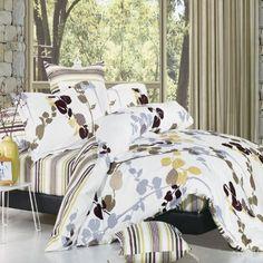 North Home Park Brown 100/% Cotton Sheet Set Queen