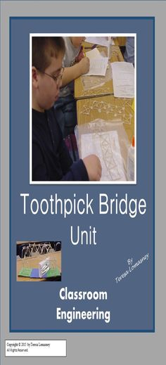 """This exciting project is """"Common Core Aligned"""" for Math and ELA. This unit takes an intriguing look at bridges. Students become classroom engineers! They will be involved with a WebQuest, research, building a model, measurement of angles and finding the area of triangles. The Physics of Bridges is Intriguing! $3.00"""