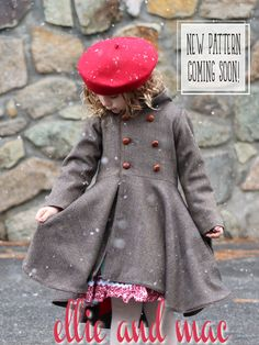 PDF Sewing pattern for this gorgeous on-trend classy piece. Diy Fashion, Trendy Fashion, Fashion Tips, Ellie And Mac, Pdf Sewing Patterns, Winter Hats, Girls Dresses, Classy, Jackets