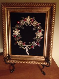 Wreath made from jewelry. Made by B. Turchi 2014
