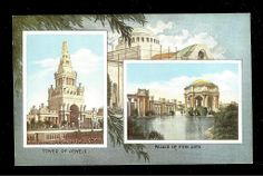 Palace of Fine Arts Postcard Tower of Jewels 1915 San Francisco