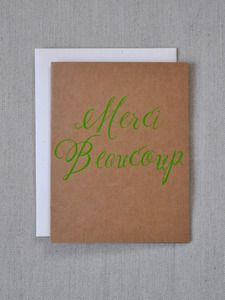 Image of Neon Green Merci Beaucoup Card