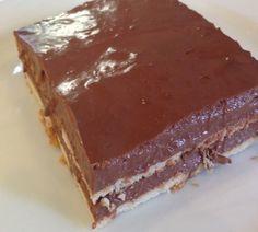Σοκολατένιο γλυκό με μπισκότα μία γεύση από τα παιδικά μας χρόνια που ακόμα και σήμερα είναι αγαπητό. Συστατικά: 1 λίτρο γάλα 2 βανίλιες 4 γεμάτες κουταλιές σούπας κορν φλάουρ 1/2 με 2/3 φλυτζάνι ζάχαρη 2 κουτ. σούπας γεμάτες κακάο 100-150 γρ κουβερτούρα 1