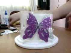 Reciclaje de Botellas Plásticas PET, Manualidades: Mariposas - YouTube