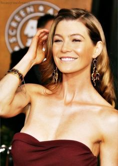 Ellen Pompeo aka Meredith Grey on Grey's Anatomy :)
