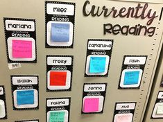 My Currently Reading product allows for students to display the book they are currently reading and to see what their classmates are reading. It also helps teachers keep track of the books their students are reading. & Two different versions are available 6th Grade Ela, 5th Grade Classroom, 5th Grade Reading, School Classroom, Third Grade, Classroom Decor, Future Classroom, Fourth Grade, Classroom Libraries