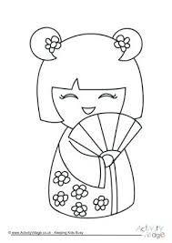 Resultado De Imagen Para Manualidades Japonesas Para Ninos Munecas Del Kokeshi Patrones De Bordado Bordado Japones