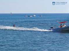 Learn to water ski while you enjoy some fun in the sun ~ #Pissouribay #Limassol #Cyprus