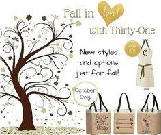 October is a great month to party!! www.mythirtyone.com/kalbers