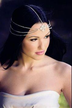 Mara Bohemian Goddess Vintage Jeweled Headband Head Piece Forehead Headdress