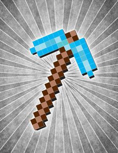Minecraft Steve Pick Ax Character inspired POSTER by IndyPrints, $11.95