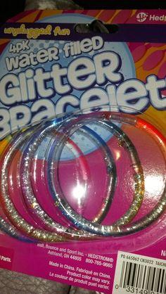 80's style glitter bracelets in 2013, I bought them. 34 and rockin glitter bracelets, yup ;)
