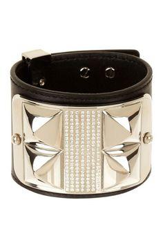 Rebecca Minkoff Studded Pave Leather Bracelet on HauteLook