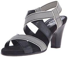 A2 by Aerosoles Womens Kaleidescope Dress Sandal Black Stripe 6 M US * Click image for more details.