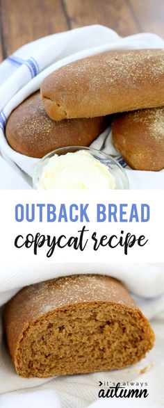 If you love the bread at the Outback Steakhouse, you'll want to try this Outback bread recipe at home! Amazing sweet molasses brown bread.