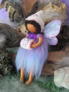 Winter fairy Waldorf inspired needle felted by by byNaturechild, $40.00