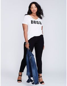 9ca27049 Boss Graphic Tee   Lane Bryant Trendy Plus Size Clothing, Plus Size  Outfits, Plus