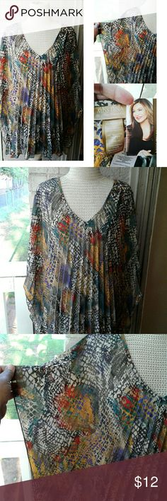 MultiColored Poncho Miss Tina Knowles Collection MultiColored Poncho Miss Tina Knowles Collection Miss Tina Knowles Collection  Tops Blouses