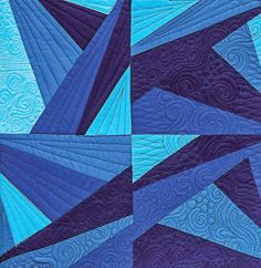 Blogger's Quilt Festival: Icy Waters - 13 Spools