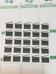 25 Clapper Board/ Movie Themed Stickers by AStickyMonster on Etsy