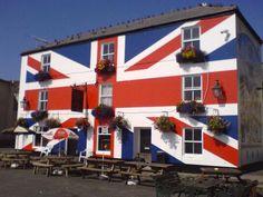 The Union Inn located by the side of the River Tamar & under the shadow of Brunel's Royal Albert Bridge in Saltash,  Tamar Street, Waterside, Cornwall, England, UK..