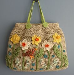 Robin Among the Daffodils Big Spring Bag by Dutzie, via Flickr