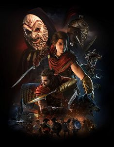 View an image titled 'Characters Key Art' in our Assassin's Creed Odyssey art gallery featuring official character designs, concept art, and promo pictures. Tatouage Assassins Creed, Arte Assassins Creed, Assassins Creed Black Flag, Assassins Creed Odyssey, Assassins Creed Quotes, Assassins Creed Origins, Asesins Creed, All Assassin's Creed, Video Game Posters