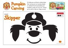 Use these ghoulishly good template to carve your very own Scary Skipper Pumpkin! Always get an adult to help you! #Halloween #HappyCarving #ScarySkipper