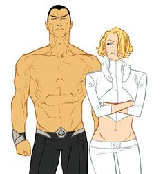 "the slutty royals (Namor & Emma ""White Queen"" Frost) from Kris Anka's tumblr account"
