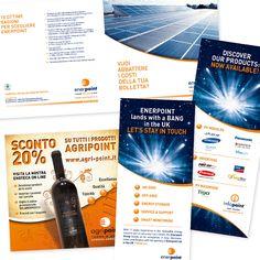 ENERPOINT e AGRIPOINT Brochure di Prodotto - Roll up - Flyer Buono Sconto - Impaginazione grafica Creativa - fotoritocco