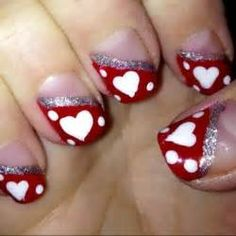 1000+ ideas about Valentine Nails on Pinterest | Nails ...