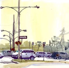 Rue Donegani in Valois on a strangely warm and steamy late September morning. #urbansketchers #urbansketchersmontreal #urbansketcher #urbansketch #montrealart #watercolour #handbookjournalco #davincibrushes