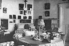 "The Bedroom of Tsar Nicholas ll of Russia and Empress Alexandra Feodorovna of Russia at the Livadia Palace. ""AL"""