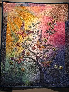 """Summer's Sudden Shower,"" art #quilt by Delaine Gately."