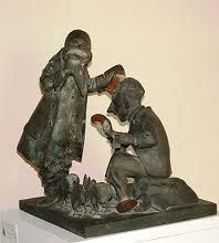 The Walrus and The Carpenter, bronze.
