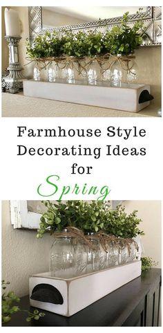 Farmhouse Table Decor, Farmhouse Style Decorating, Rustic Decor, Rustic Table, Vintage Farmhouse, Farmhouse Table Centerpieces, Country Decor, Farmhouse Lighting, Farmhouse Interior