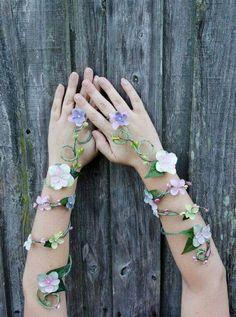 Spring flower arm cuff