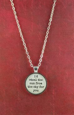 I would!!! I'd Steal the Sun From the Sky for You  by ShakespearesSisters, $9.00  Bon Jovi Lyrics